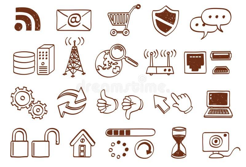 комплект иконы doodle бесплатная иллюстрация