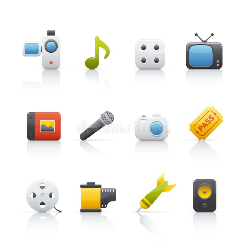 комплект иконы entretainment бесплатная иллюстрация