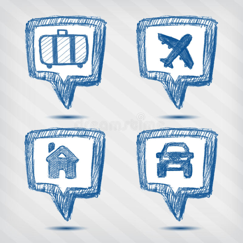 Комплект икон указателя перемещения иллюстрация штока