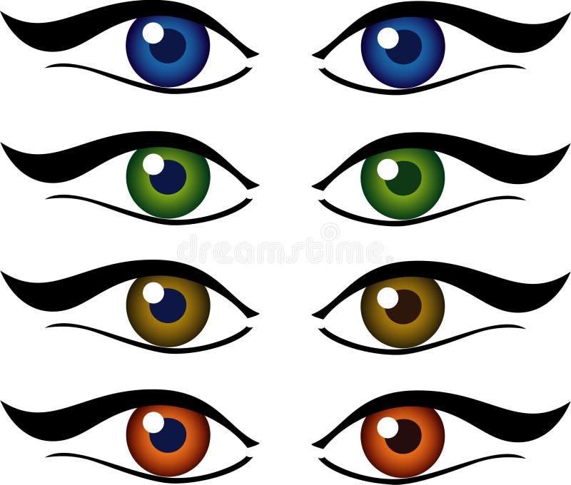 комплект иллюстрации глаз стоковое фото