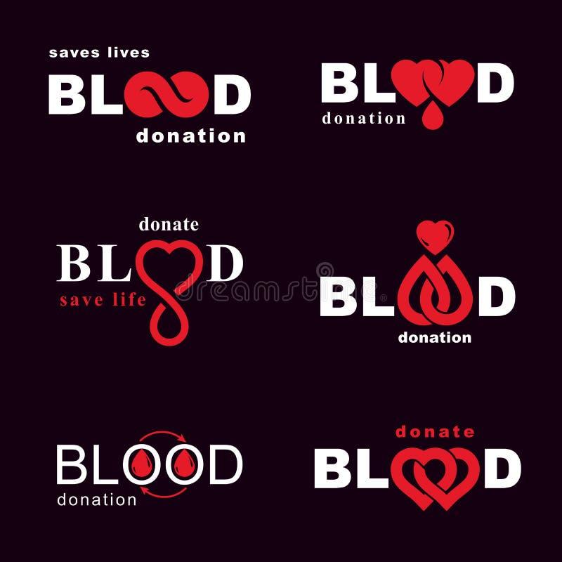 Комплект иллюстраций донорства крови вектора схематических Hematolog бесплатная иллюстрация