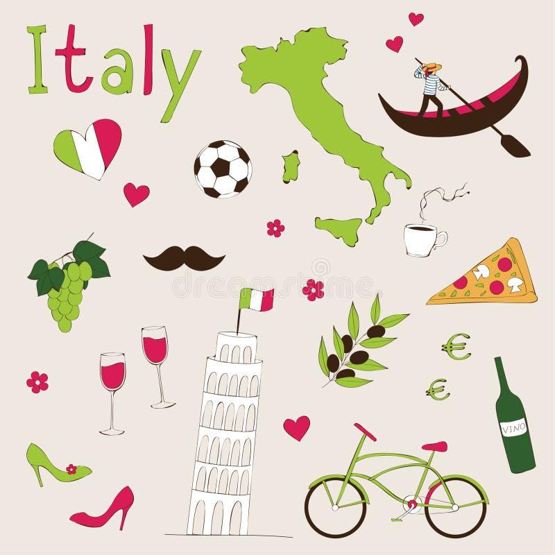 Комплект Италии стоковые фотографии rf