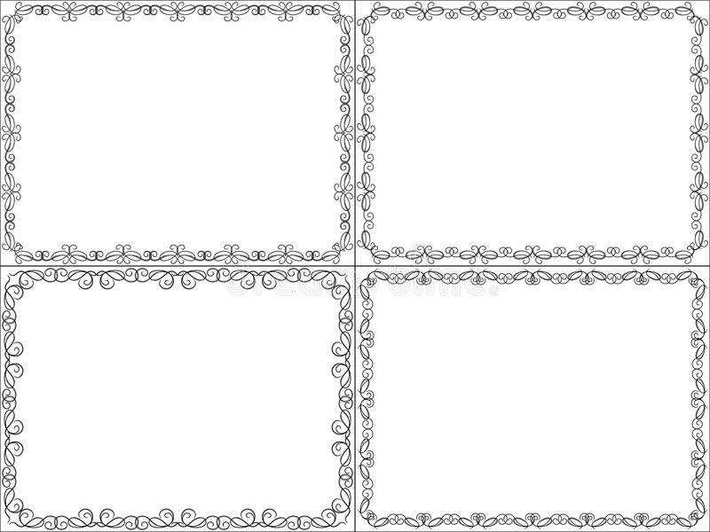 Комплект 4 кадр предпосылок иллюстрация вектора