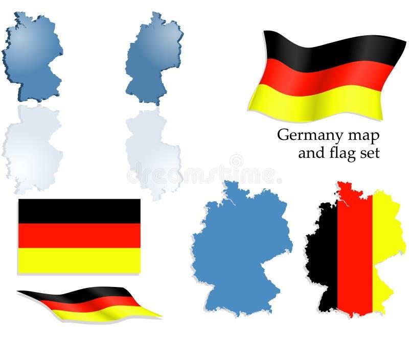 комплект карты Германии флага бесплатная иллюстрация