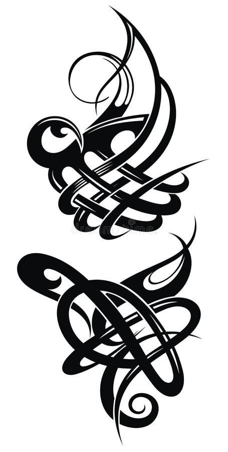 Комплект кельтских элементов дизайна в черноте бесплатная иллюстрация