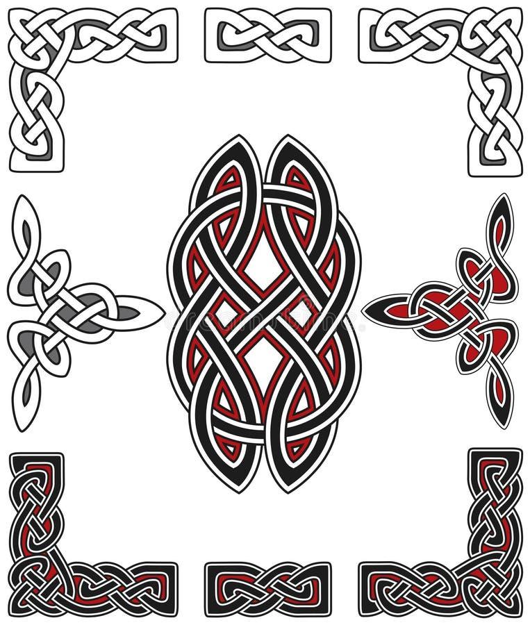 Комплект кельтских элементов конструкции бесплатная иллюстрация