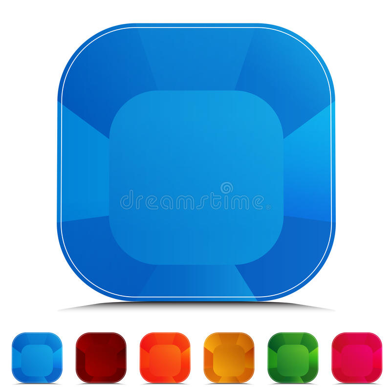 комплект кнопки округленный gemstone бесплатная иллюстрация