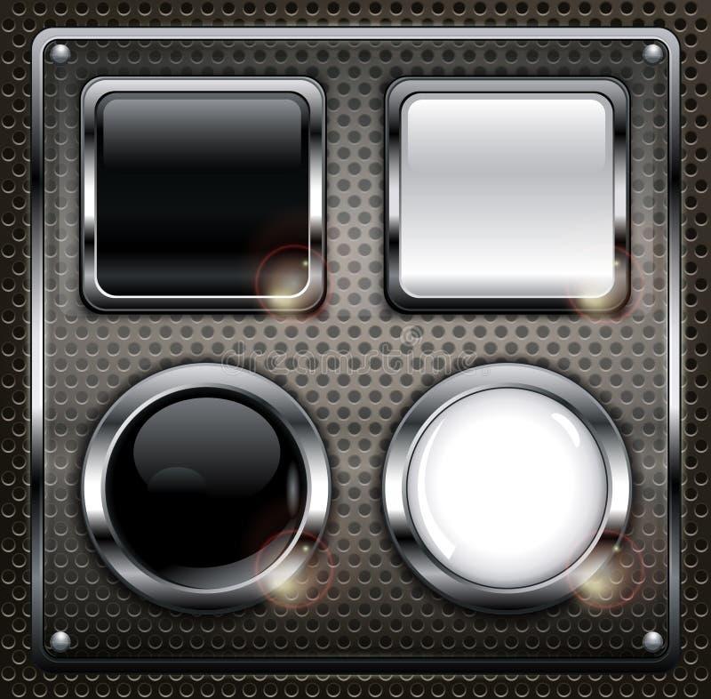 Комплект кнопок сети бесплатная иллюстрация