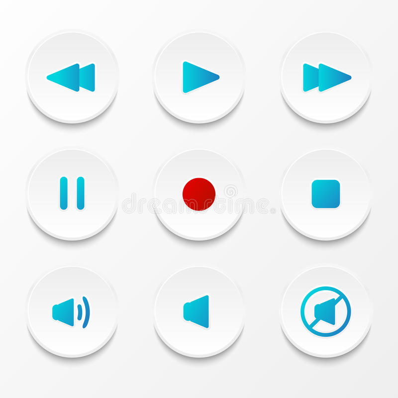 Комплект кнопок средств иллюстрация штока
