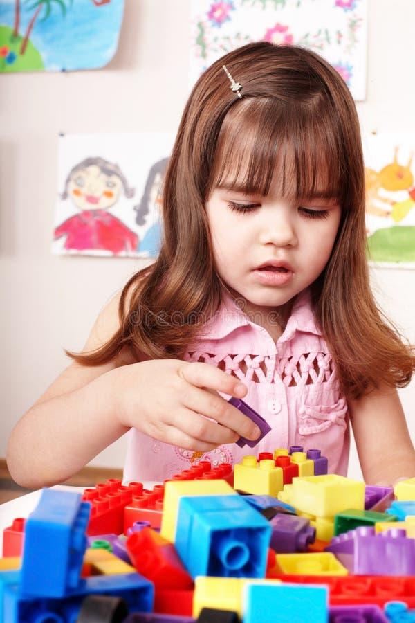 комплект комнаты игры конструкции ребенка стоковые фото