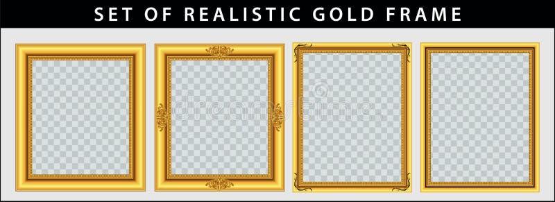 Комплект комплекта рамки золота бесплатная иллюстрация