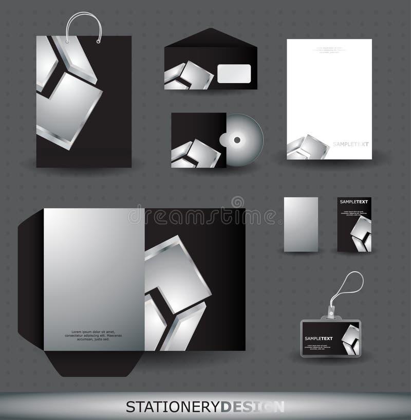 Комплект конструкции канцелярских принадлежностей бесплатная иллюстрация
