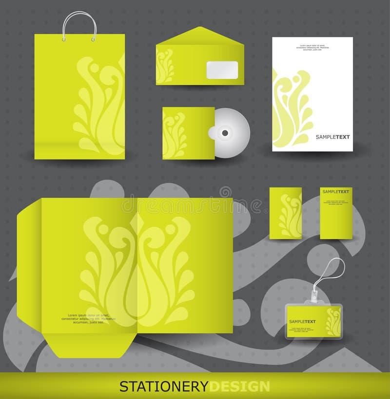 Комплект конструкции канцелярских принадлежностей иллюстрация штока