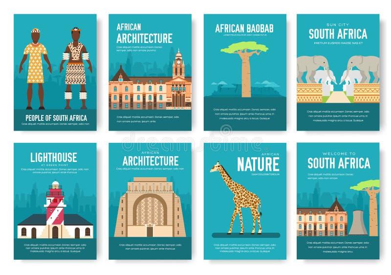 Комплект концепции отключения перемещения орнамента страны Южной Африки Искусство традиционное, кассета, книга, плакат, конспект, иллюстрация штока