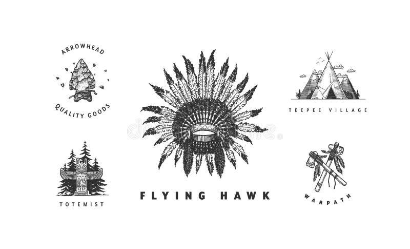 Комплект коренного американца бесплатная иллюстрация