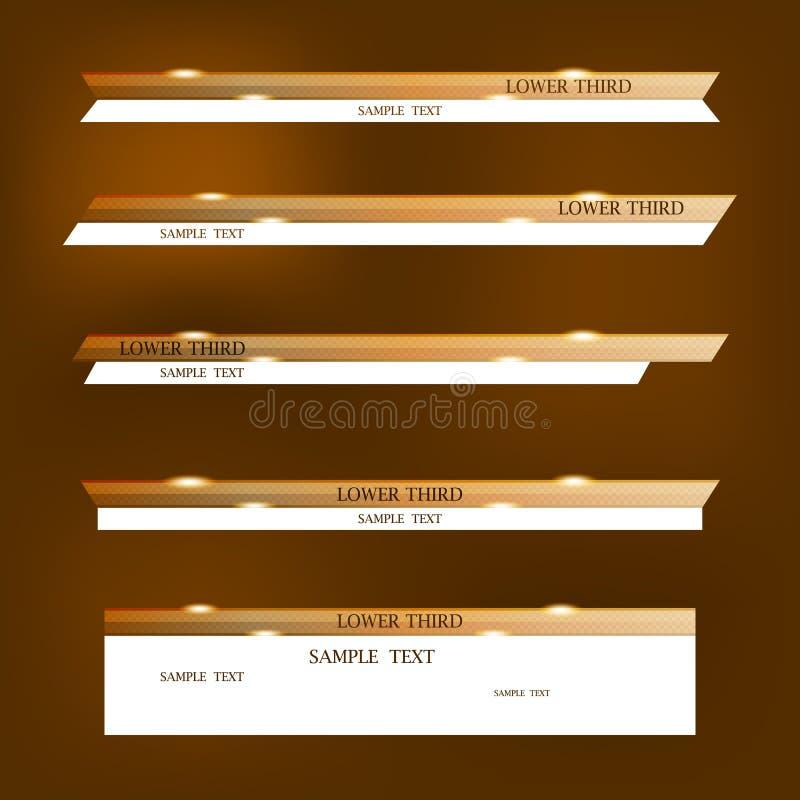 Комплект коричневых знамен стоковое изображение rf