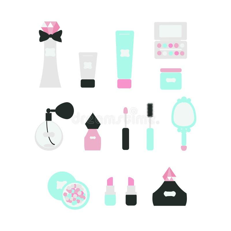Комплект косметических продуктов бесплатная иллюстрация