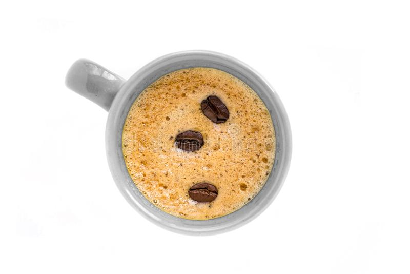 Комплект кофейной чашки на изолированной предпосылке стоковое фото
