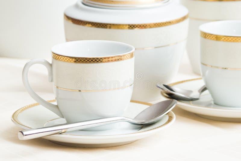 комплект кофейной чашки стоковые фото