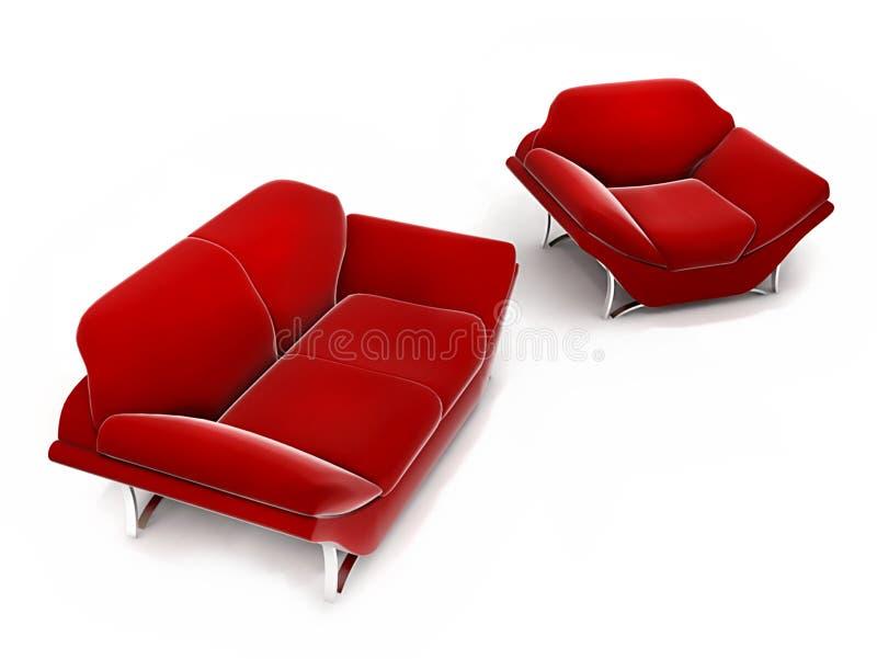Комплект красного цвета стоковое изображение
