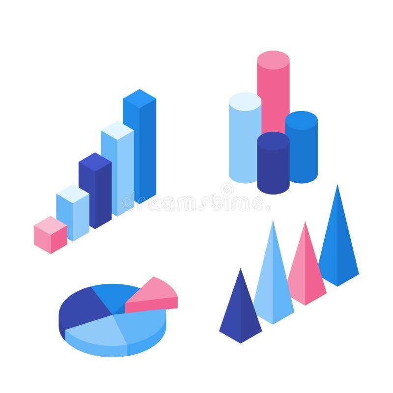 Комплект красочных infographic элементов вектора бесплатная иллюстрация