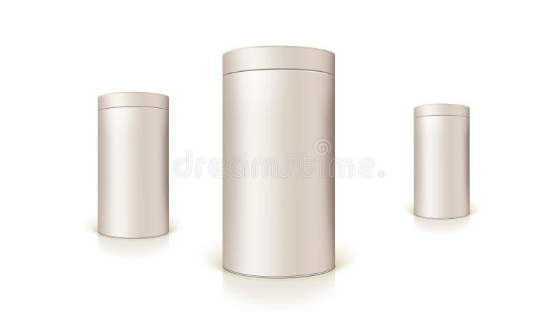 Комплект круглых олов упаковки для навальных продуктов и законсервированных продуктов бесплатная иллюстрация