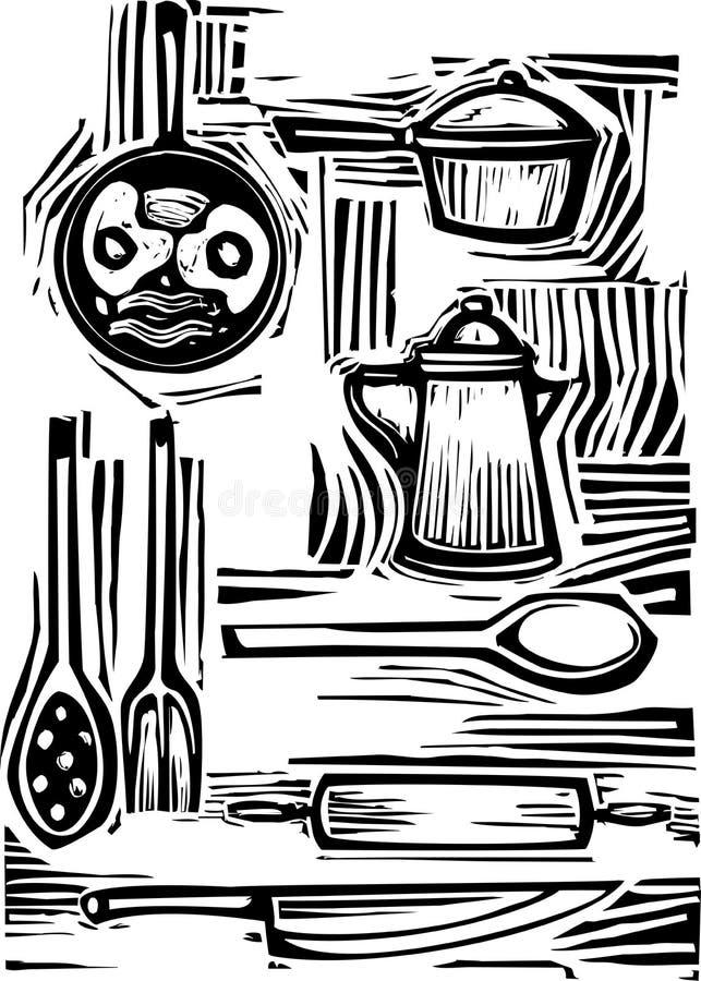 комплект кухни бесплатная иллюстрация