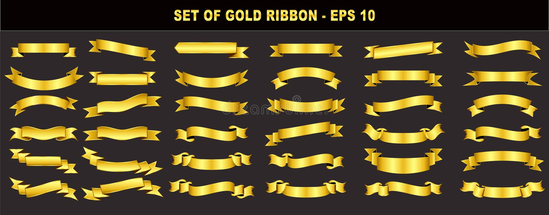 Комплект ленты золота бесплатная иллюстрация