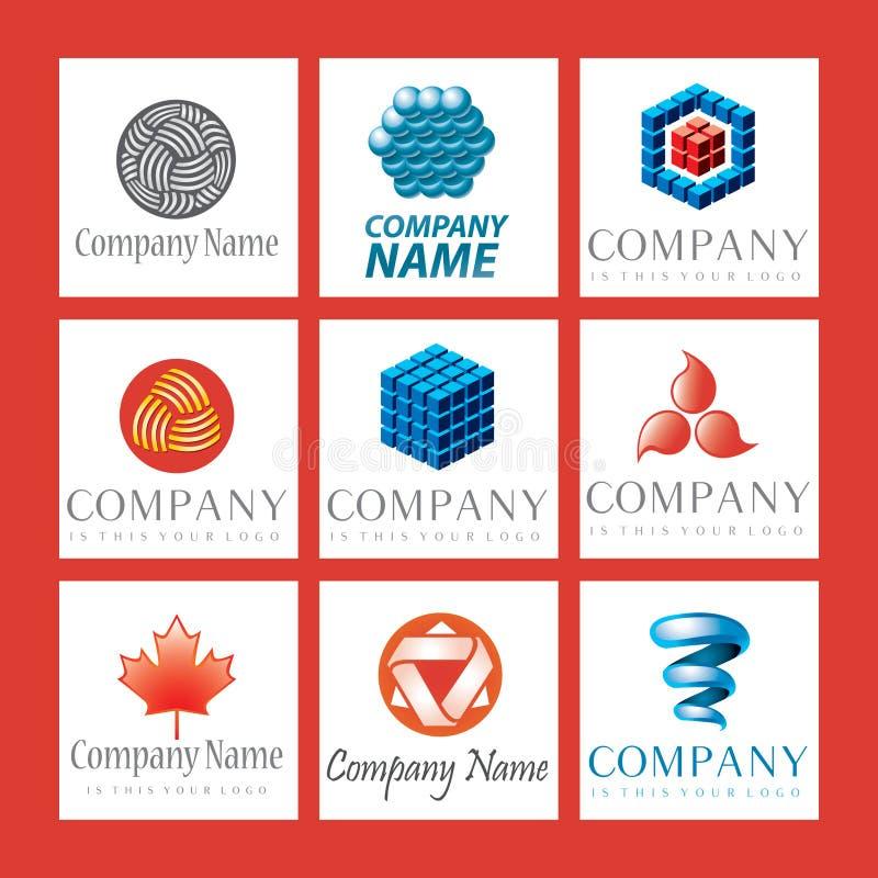 комплект логоса компании иллюстрация штока