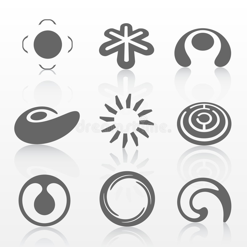 комплект логоса стоковое фото rf