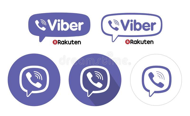 Комплект логотипа посыльного Viber стоковые фото