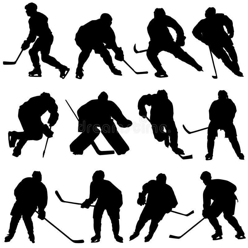 комплект льда хоккея бесплатная иллюстрация