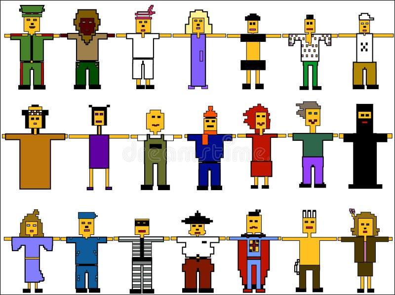 комплект людей икон бесплатная иллюстрация