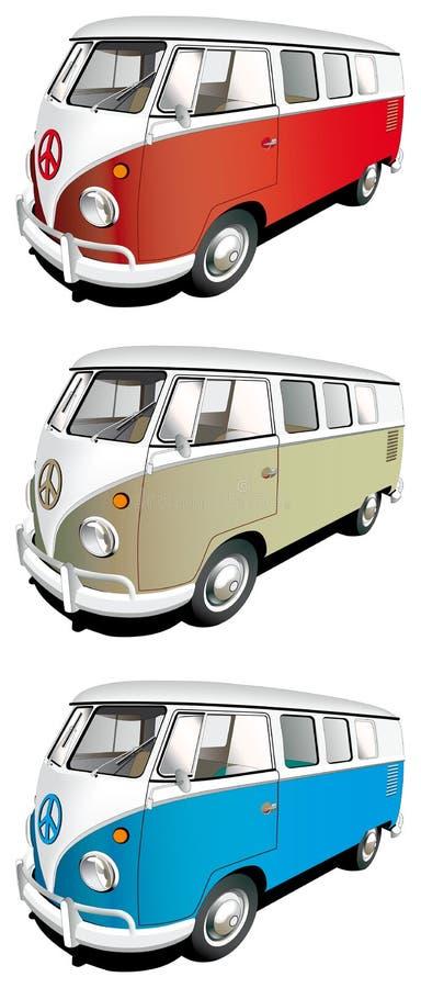 комплект минибуса иллюстрация вектора