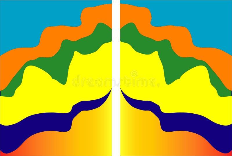 Комплект минимального шаблона в дизайне стиля отрезка бумаги для клеймить, рекламируя с абстрактными формами Современная предпосы иллюстрация штока