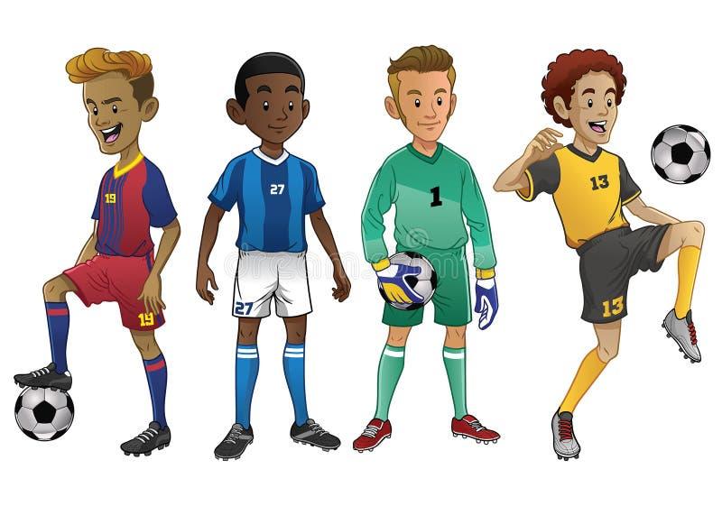 Комплект молодых футболистов бесплатная иллюстрация