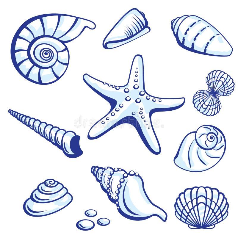комплект моря иллюстрация вектора