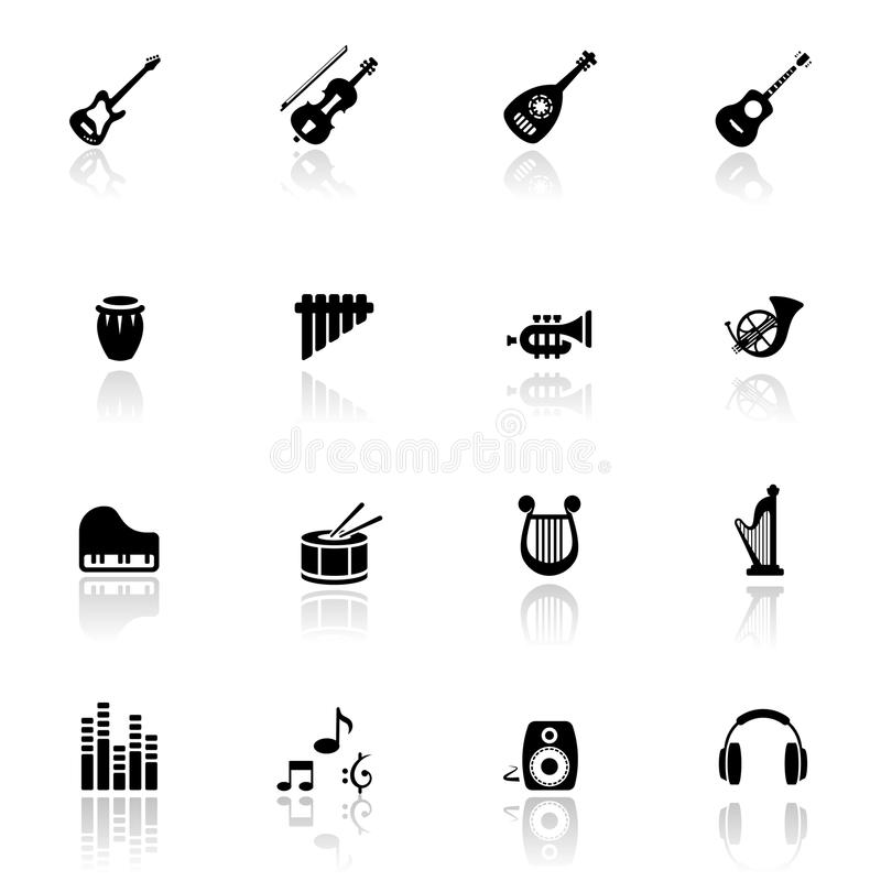 комплект мюзикл аппаратур икон иллюстрация штока