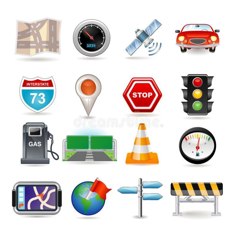 комплект навигации иконы иллюстрация вектора