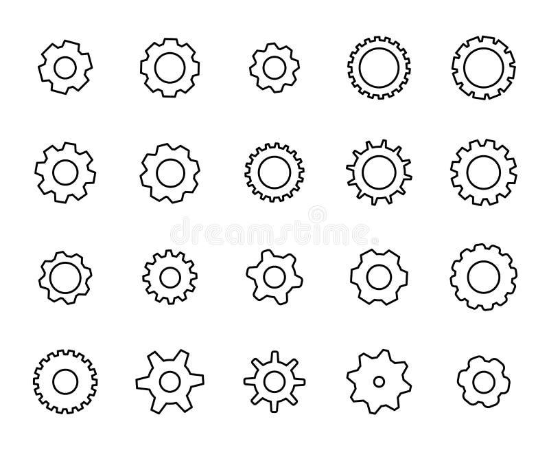 Комплект награды линии значков установки иллюстрация вектора
