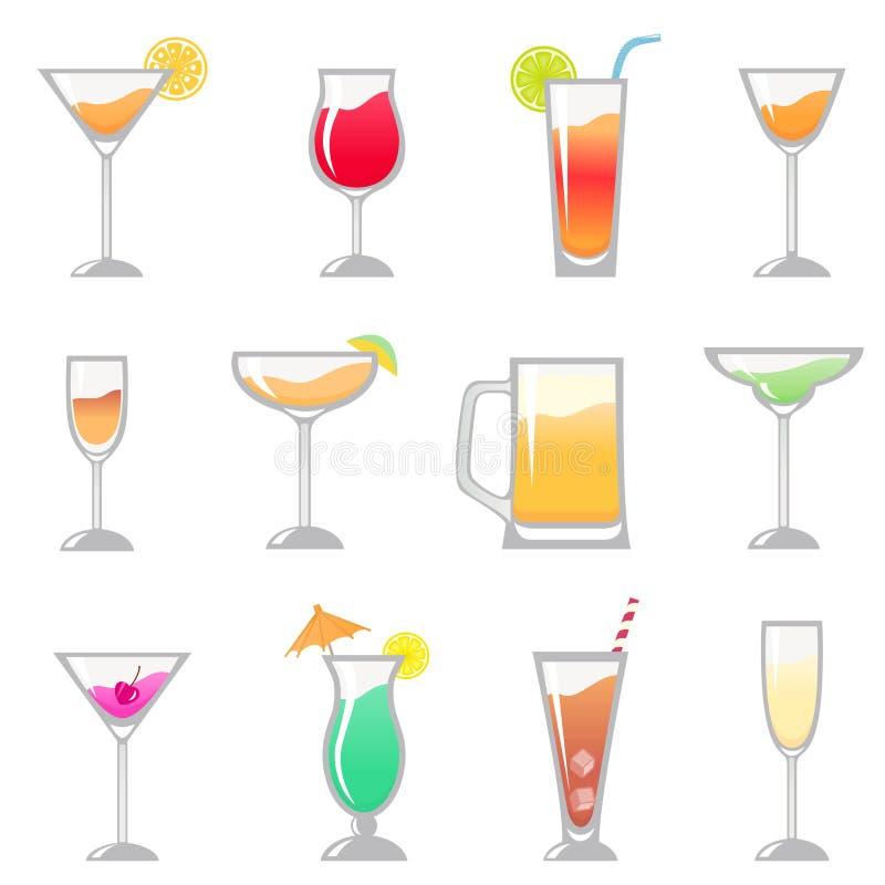 комплект напитка иллюстрация штока
