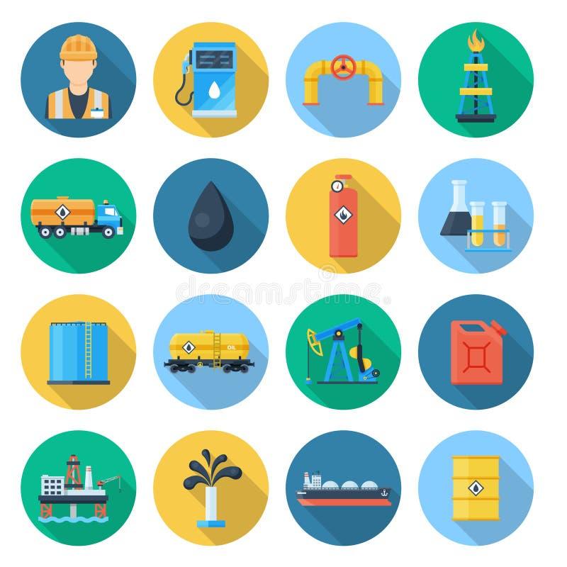 Комплект нефтяной промышленности нефти и газ иллюстрация штока