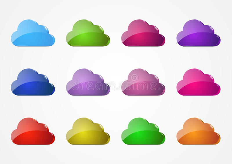 Комплект облаков иллюстрация вектора