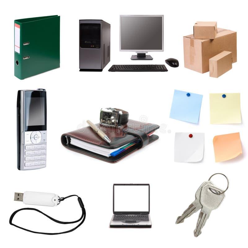 комплект офиса стоковое изображение rf