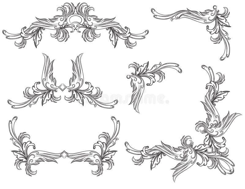 комплект переченя элементов конструкции бесплатная иллюстрация