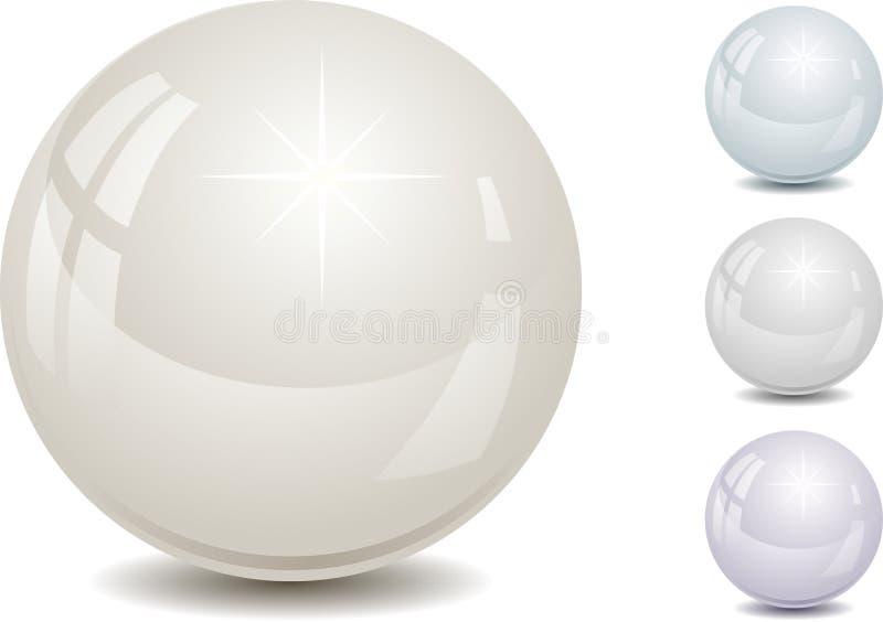 комплект перлы цвета иллюстрация вектора