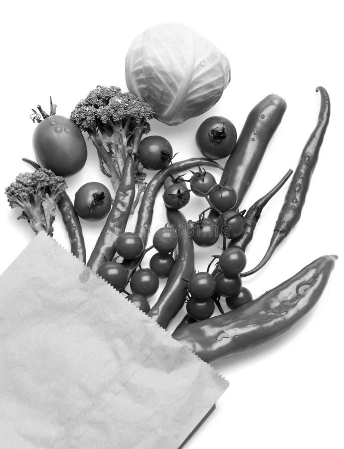 Комплект перцев горячего chili, капусты и томатов вишни стоковое фото rf