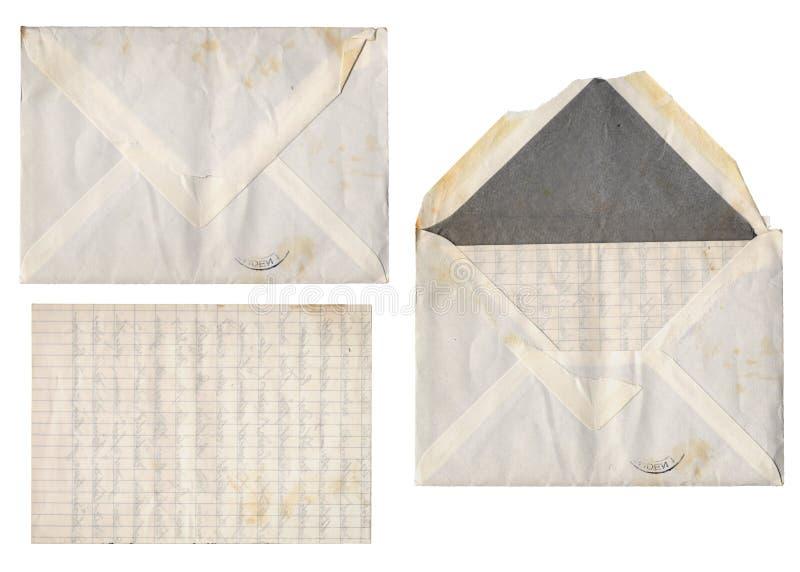 комплект письма старый стоковое фото
