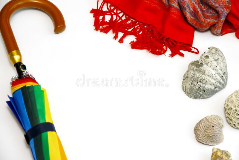 Комплект пляжа лета стоковые изображения