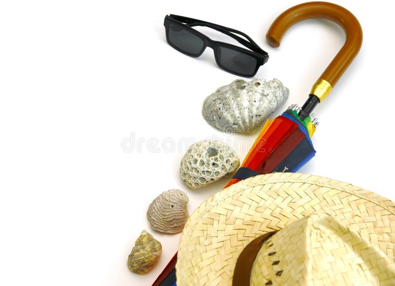 Комплект пляжа лета стоковая фотография
